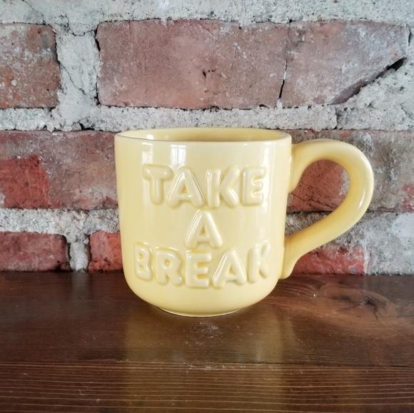 Vintage Ceramic Take A Break coffee mug